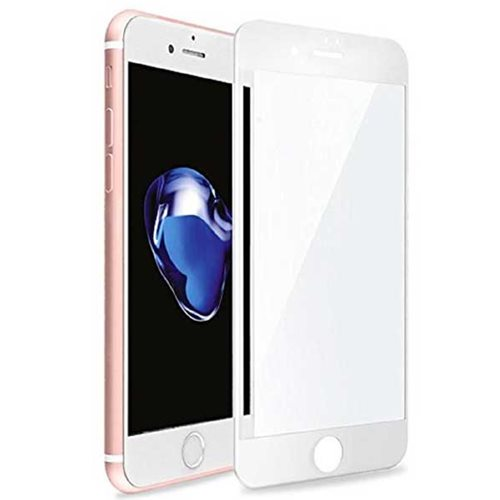 گلس تمام چسب آیفون iPhone 7/8 Plus سفید
