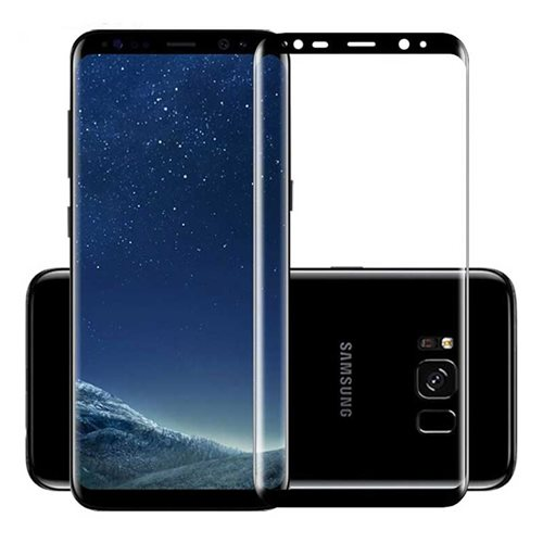 گلس تمام چسب Full Cover 3D Samsung Galaxy S8 مشکی