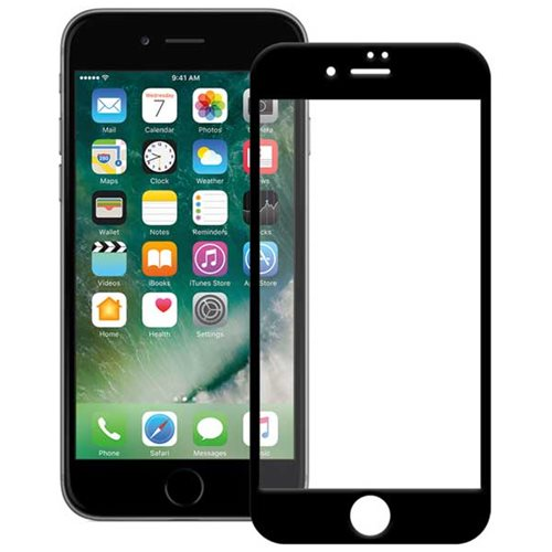گلس تمام چسب آیفون iPhone 7/8 Plus مشکی