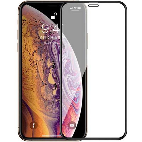 گلس تمام چسب iPhone XR ۳D full cover مشکی